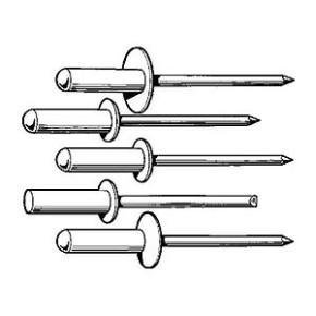 Blindniete Alu / Stahl 100 Stück 5 x 16