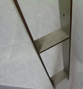H-Pfostenträger aus Edelstahl A2 lang 111 x 800 x 80 x 8 schwer Stück