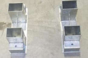 Brennholz Stapelhilfe für 70mm Kantholz 1 Stk feuerverzinkt