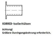Korrex Isolierhülse Kunsstoff 4 x 10 weiß für M 4