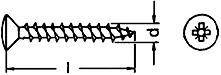 Linsensenkkopfschrauben Edelstahl A2 Vollgewinde Kreuzschlitz 3 x 16 10 Stück