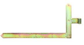 Tor Winkelband 1 Paar für Garagentore 400 x 800 gelb verzinkt Dorn 20mm