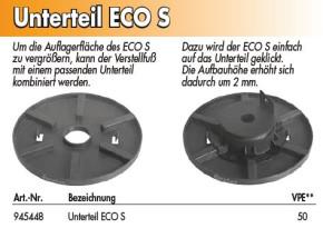 Unterteil / Platte für Eco S Stellfuß