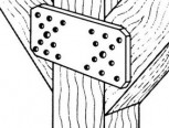 Flachverbinder verzinkt  100 x 35 x 2,5  1 Stück